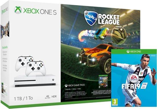 Xbox One S (1TB) + 2x controllers + Rocket League + FIFA 19  @ Bol NL