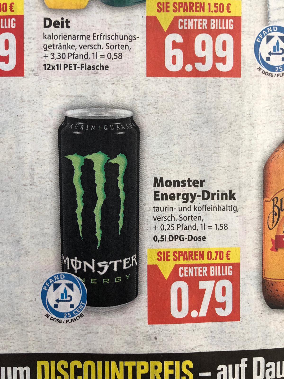 [EDEKA] Monster Energy 0,5l Dose für unschlagbare 0,79€