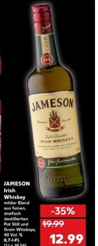 Jameson Original Irish Whiskey - 0,7l Flasche  für 12,99 € @ Kaufland ab 08.10.