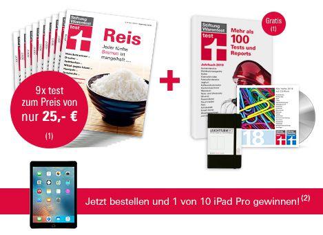 [Stiftung Warentest] 9 Ausgaben test + Archiv-CD 2018 + test Jahrbuch 2019 + Notizbuch