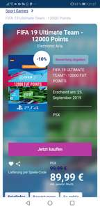 FIFA 19 Ultimate Team - 12000 Points