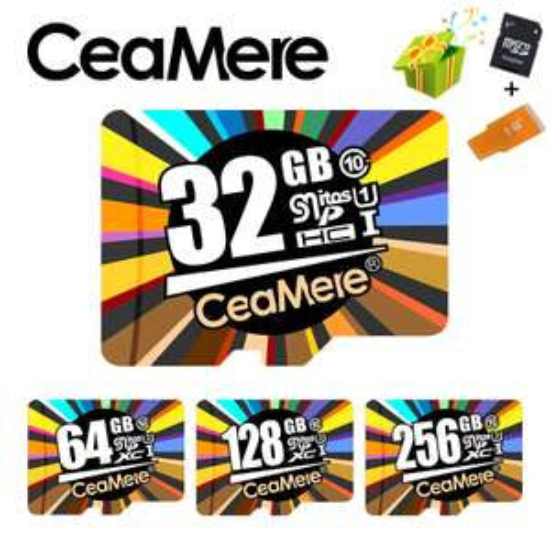CeaMere 128GB Micro SDXC UHS-I U3 + 32GB MicroSD und USB 2.0 & SD Adapter