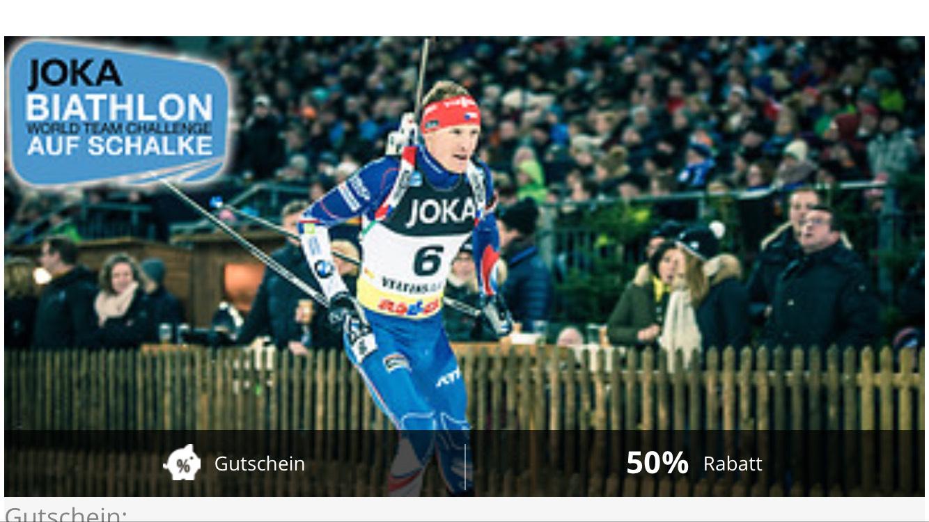 Joka Biathlon World Team Challenge AUF SCHALKE 2 für 1 plus Versandkosten