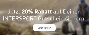 Intersport Gutscheinkarten mit 20% Rabatt über die Postbank Vorteilswelt - für jeden, auch ohne Konto