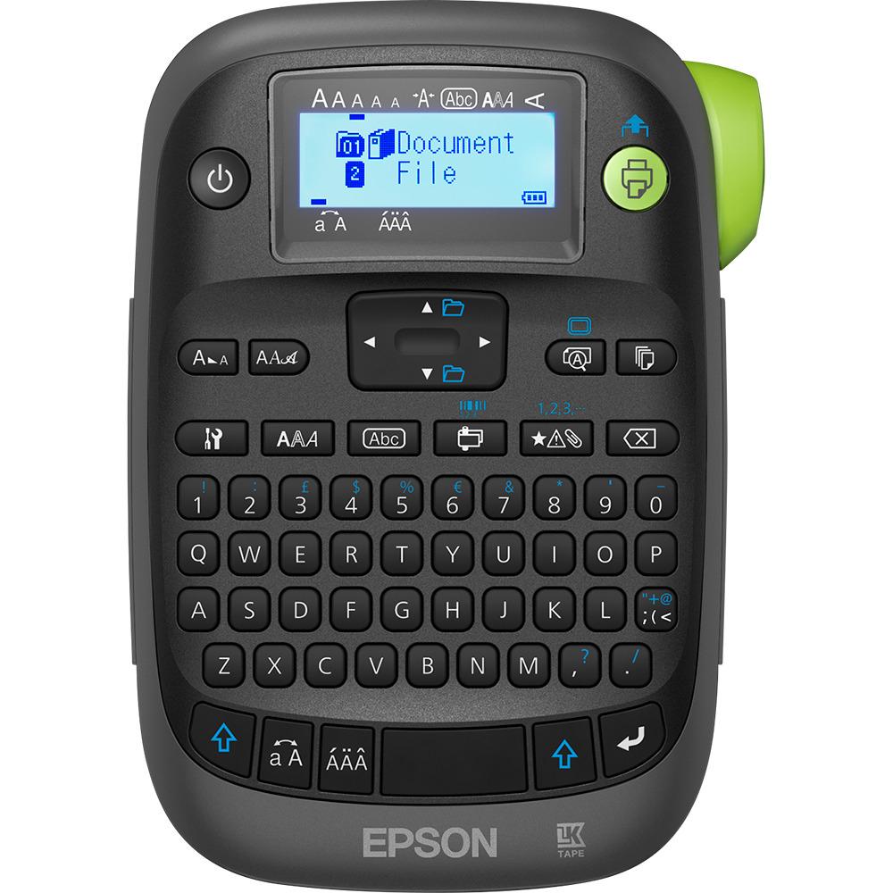 Etikettendrucker Epson LabelWorks LW-K400 (QWERTZ, 180 dpi, verschiedene Schriftarten, Cut & Print, integrierter Speicher, Barcode-Druck)