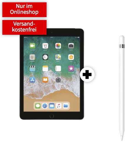APPLE iPad LTE (32 GB) 2018 & Apple Pencil mit 10GB LTE im Telekom Netz bei MediaMarkt