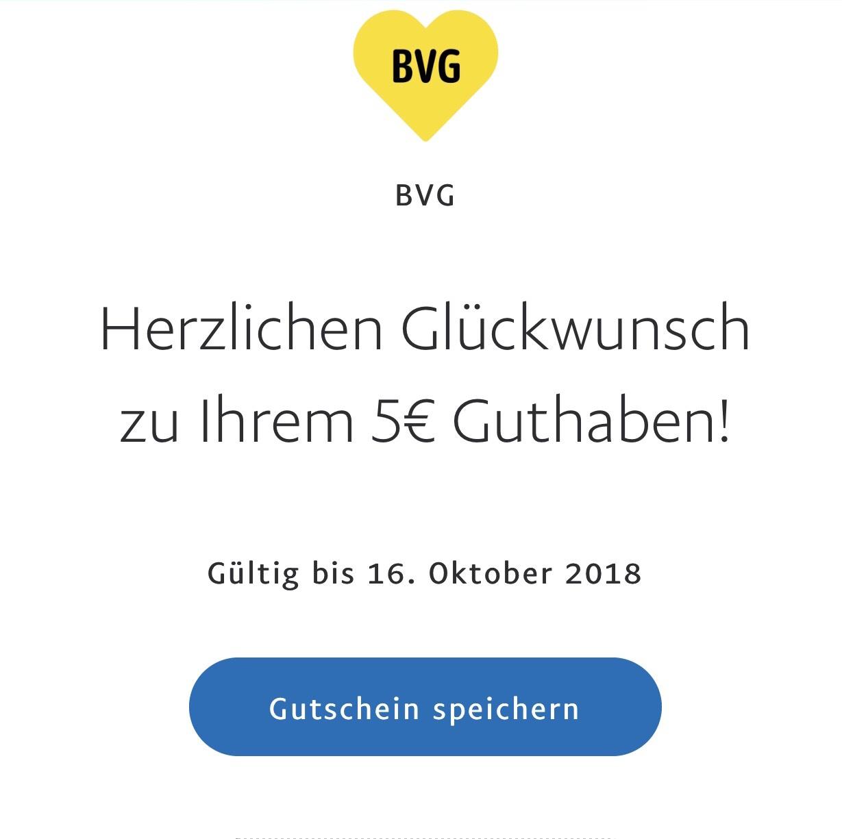 5€ Gutschein für die BVG über Paypal [Lokal Berlin]