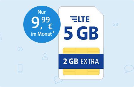 5Gb o2 für 10€/Monat bei 1und1