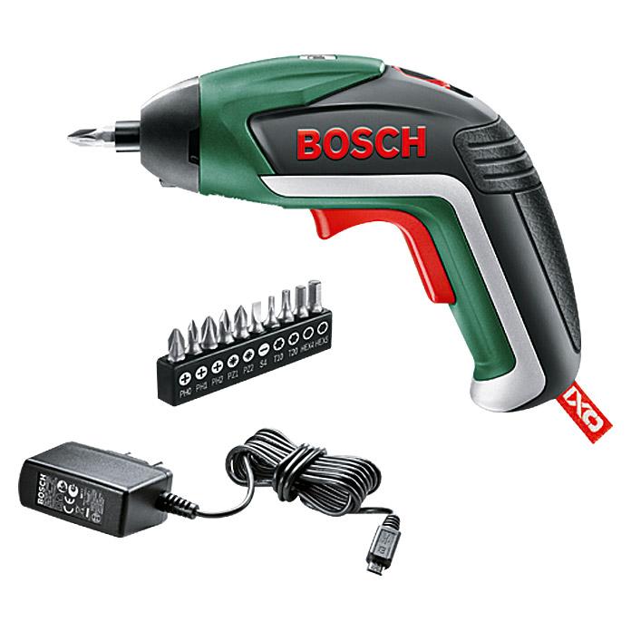 Bosch Akkuschrauber IXO (5. Generation, 10 Bits, USB Ladegerät, 3,6 Volt, 1,5 Ah) für 21,99€ bis Samstag 19.10.2018 20:00 Uhr [Bauhaus]