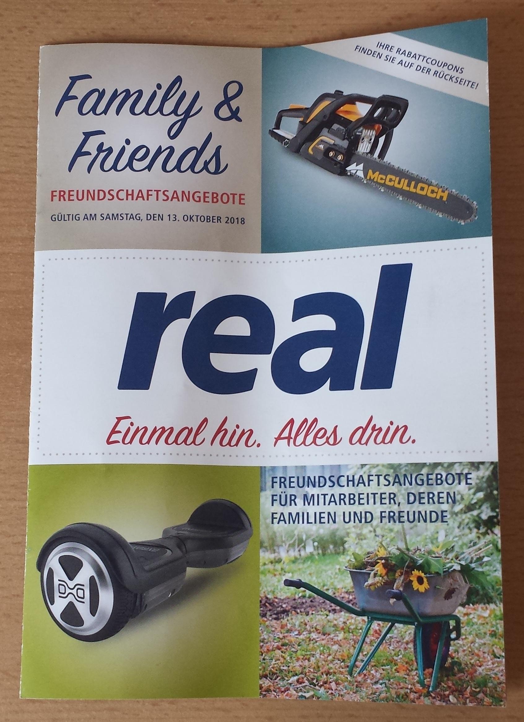 [real] Family & Friends Heft (gültig nur am 13.10.18)