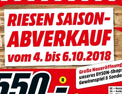 Lokal Media Markt Ludwigsburg Breunigerland Abverkauf, z.B. TVs, Kopfhörer und mehr
