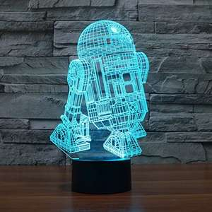 Star Wars R2d2 Darth Vader Uvm 3d Led Lampe Ab 5 22 Inkl
