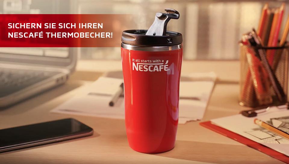 Thermobecher Gratis beim Kauf von 2 Nescafé Classic Gläsern