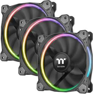 Thermaltake Riing 12 LED RGB TT Premium Edition, 3er-Pack (120mm, PWM, 400-1400 RPM)