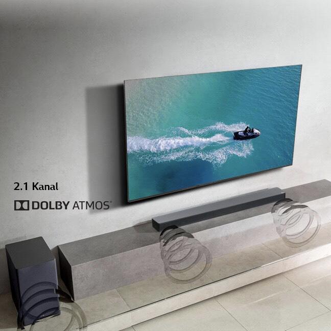 LG SK8 Dolby Atmos 2.1 Soundbar und Wireless Subwoofer für nur 279,90 €