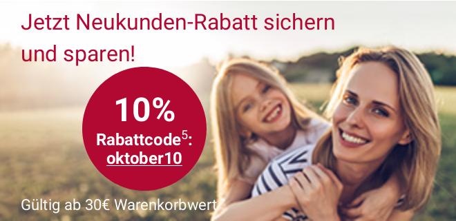 "10% ""Neukundenrabatt"" bei apo-rot.de ab 30 € MBW, ab 40 € versandkostenfrei"