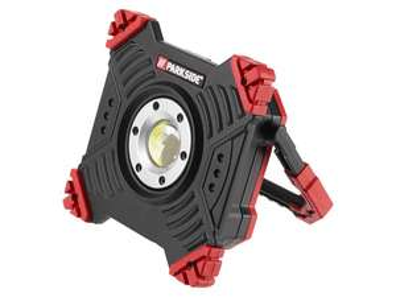 LIDL Parkside LED Arbeitsstrahler Baustellenlampe mit Powerbank-Akku magnetisch