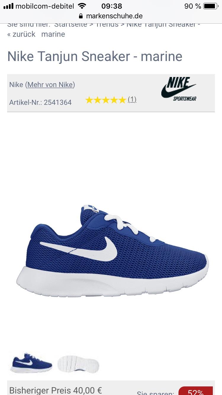 Nike Tanjun Sneaker Kinderschuhe Schuhe
