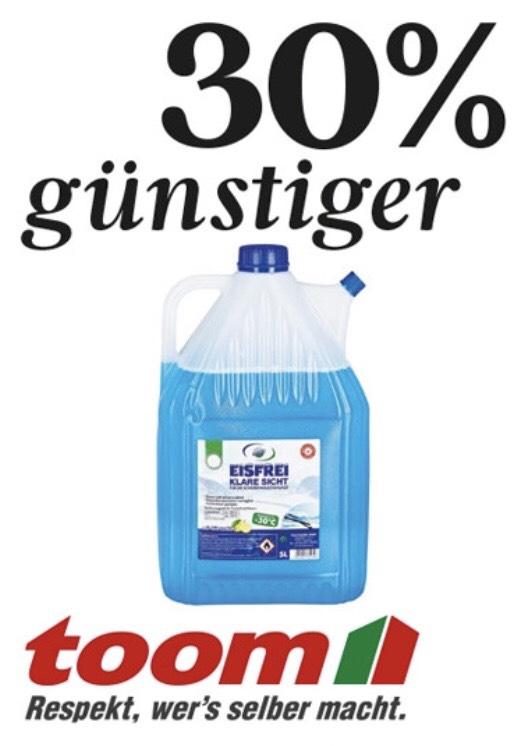 [lokal@Toom-Baumarkt] Scheibenfrostschutz 5 Liter bis -30Grad für 3,49€ / Kundenkarteninhaber: -15% auf den nächsten Einkauf