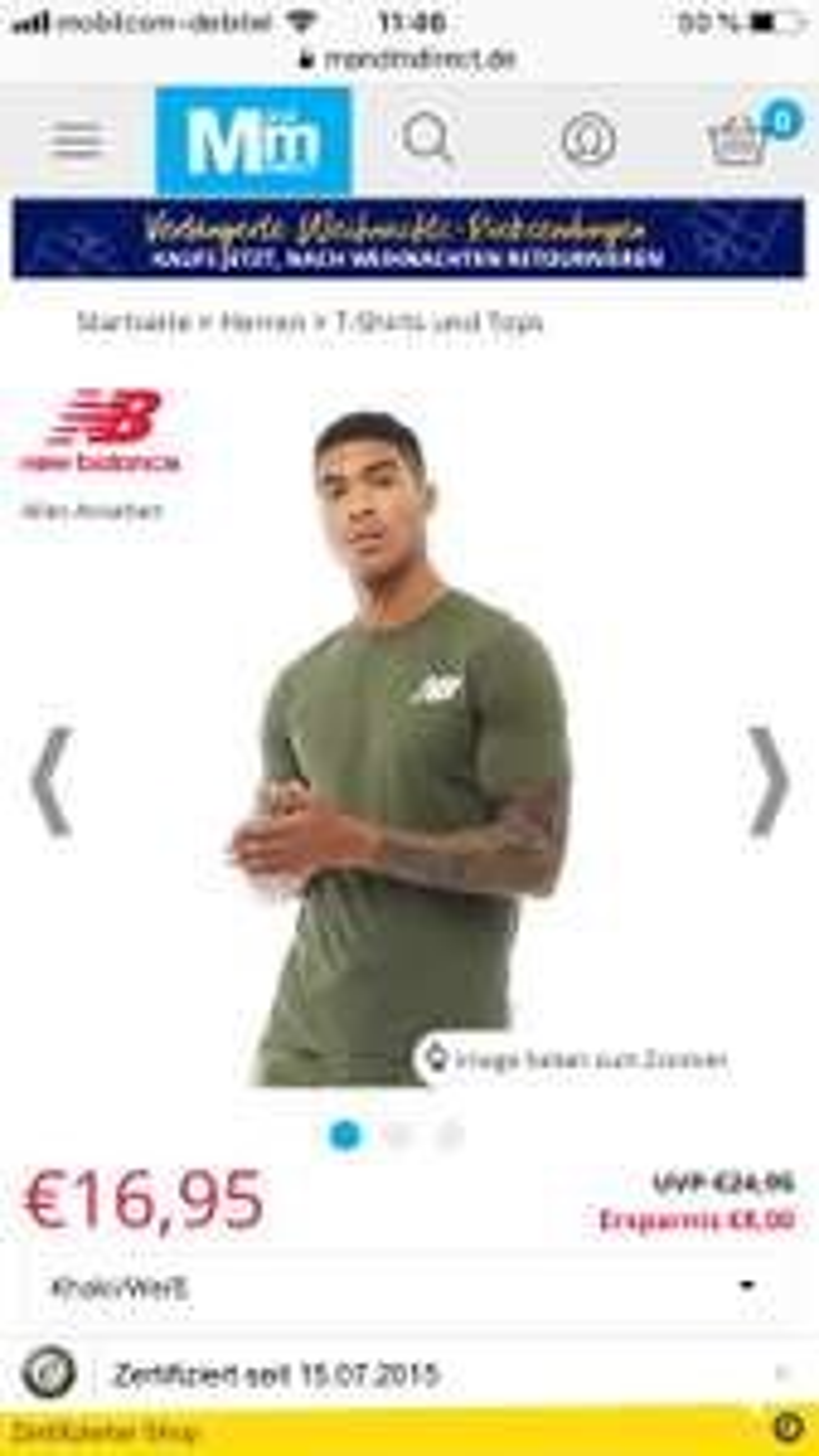 *HOT* New Balance khaki Herren Shirt mit Logo