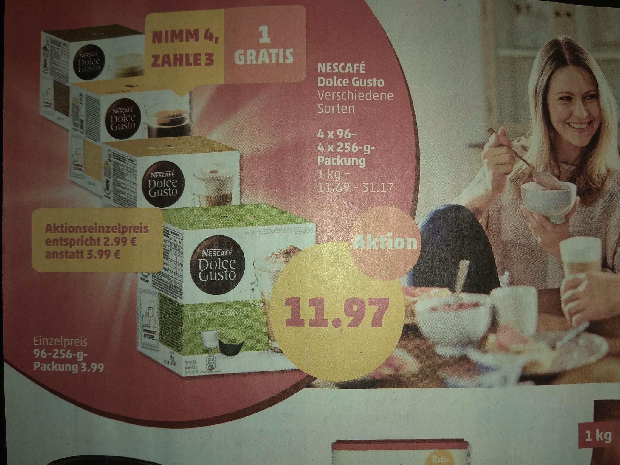 [Penny] Dolce Gusto Kaffeekapseln 4 für 3. Stückpreis 2,99€!