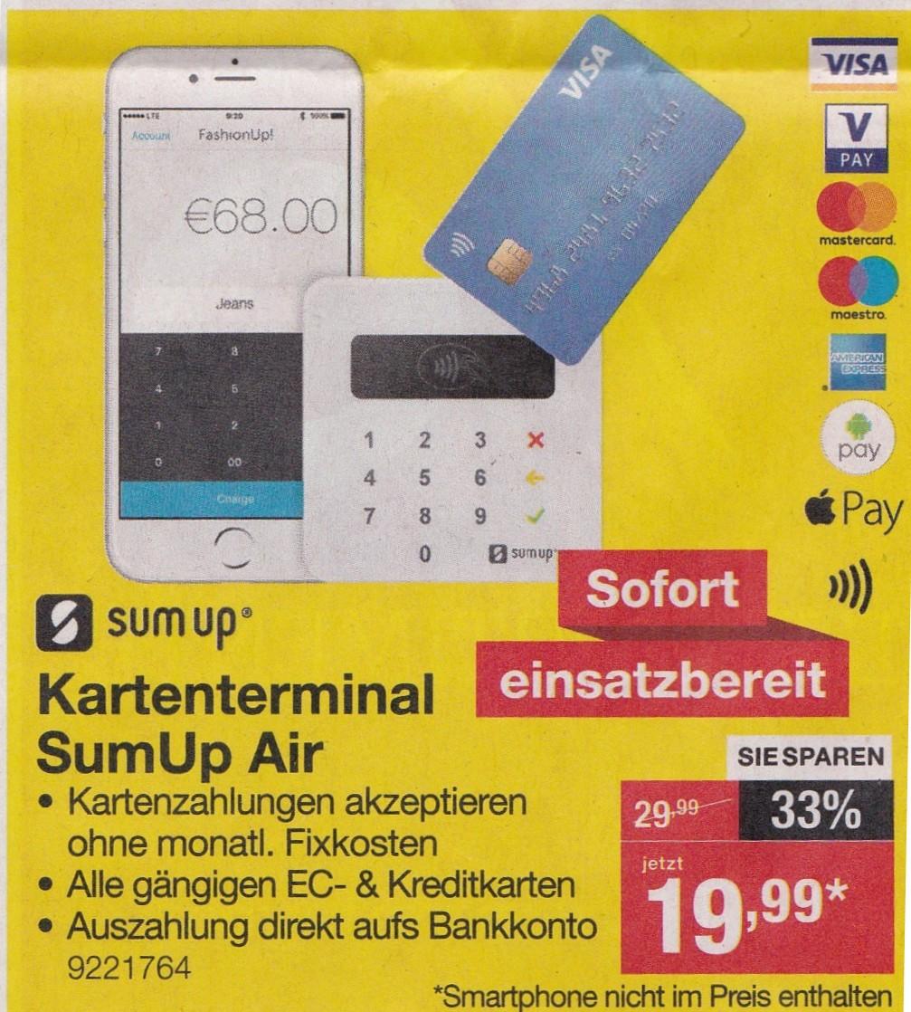 [Staples Filiale] SumUp Air Kartenterminal für nur 19,99€