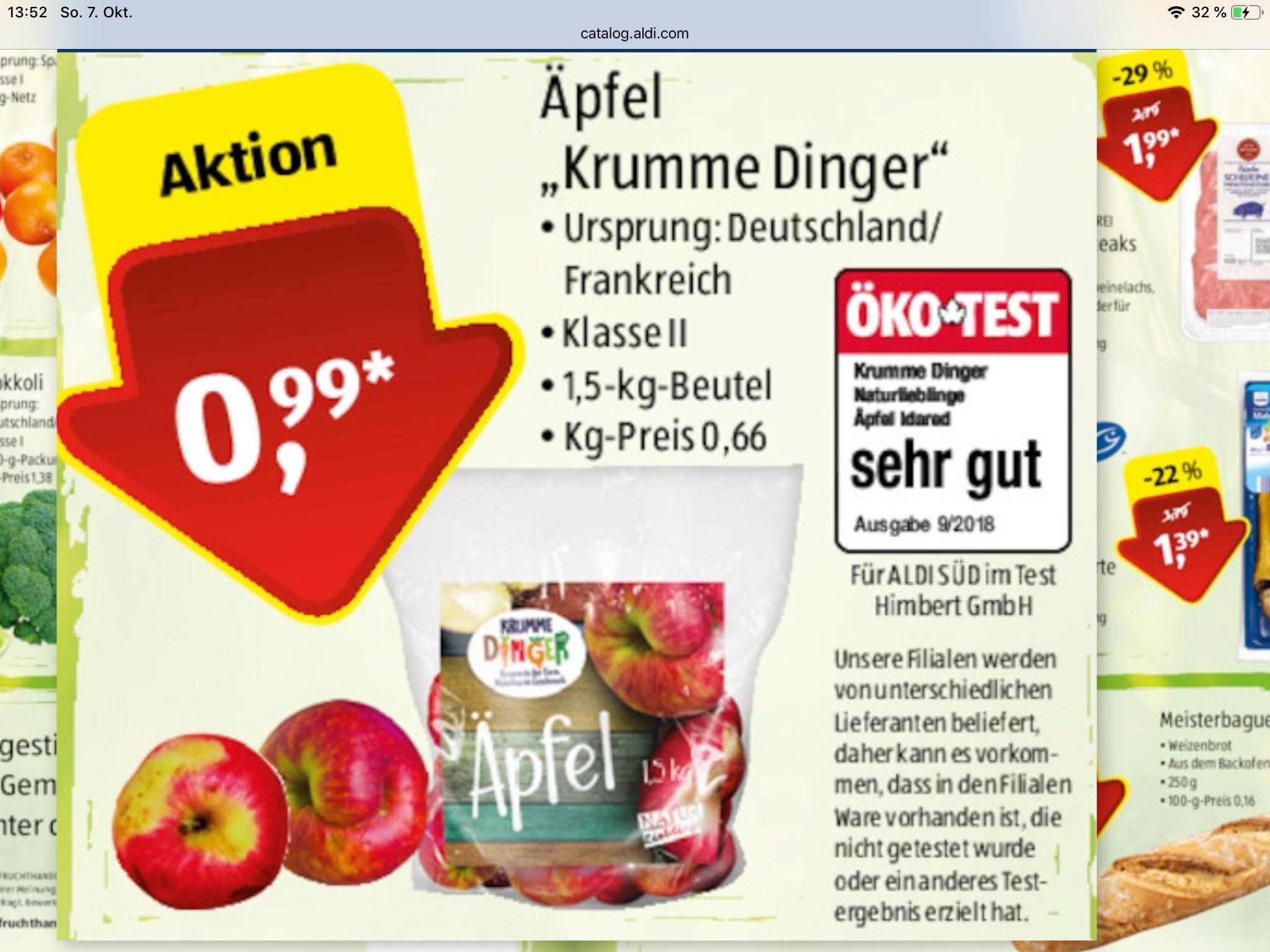 "[Aldi Süd] Äpfel ""Krumme Dinger"" ab 15.10."