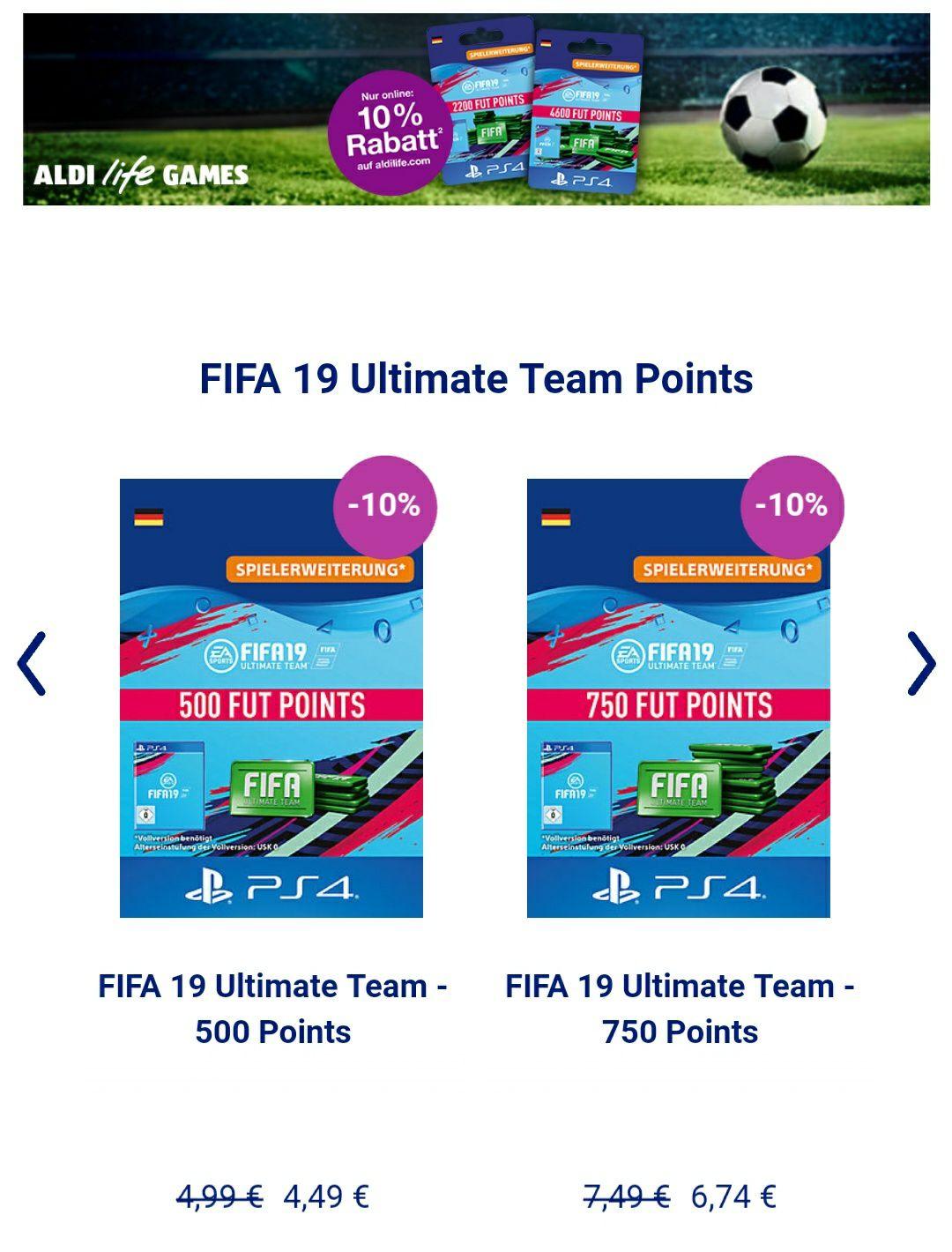 10% auf Fifa 19 FUT Coins | AldiLife.com