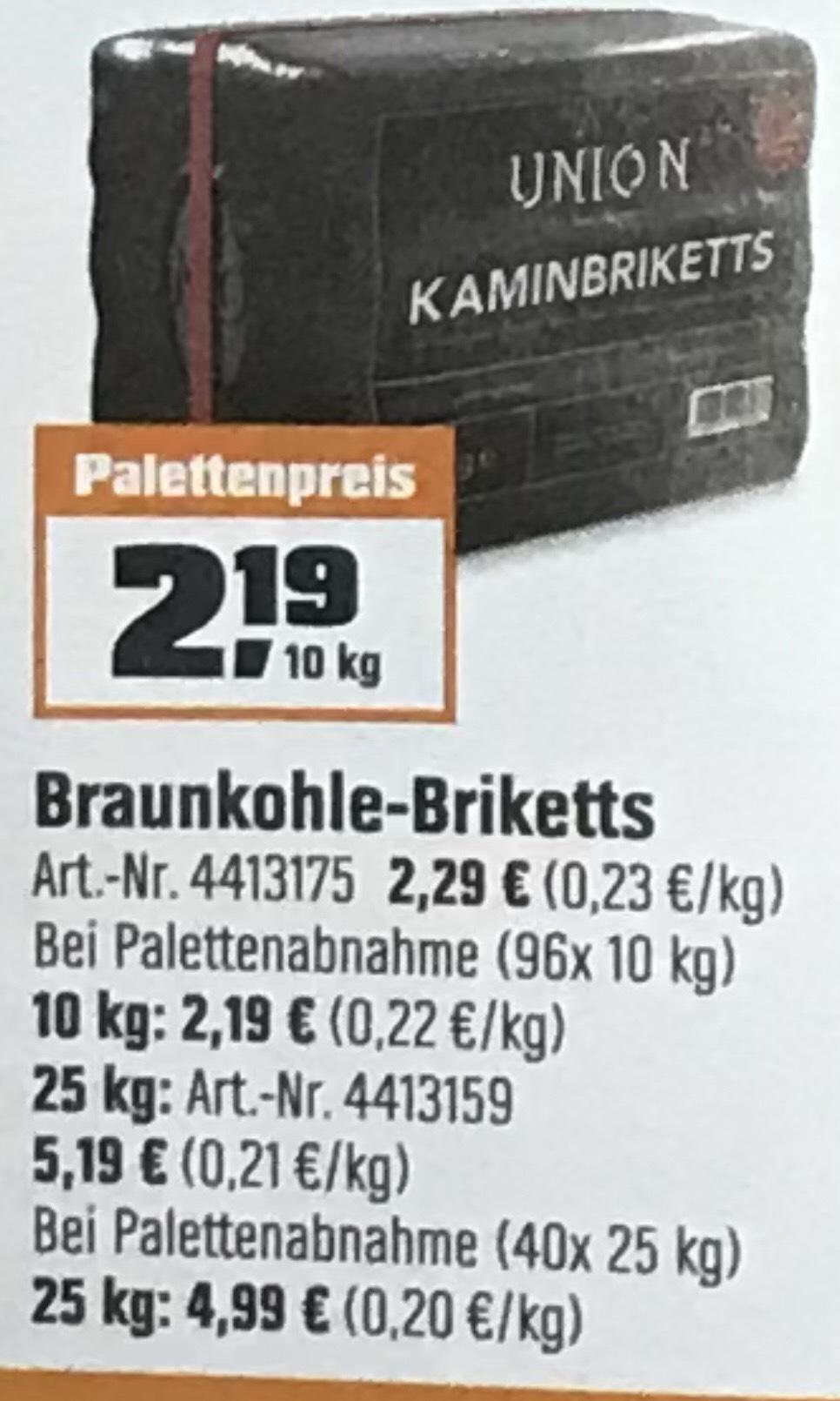 Braunkohle Briketts obi