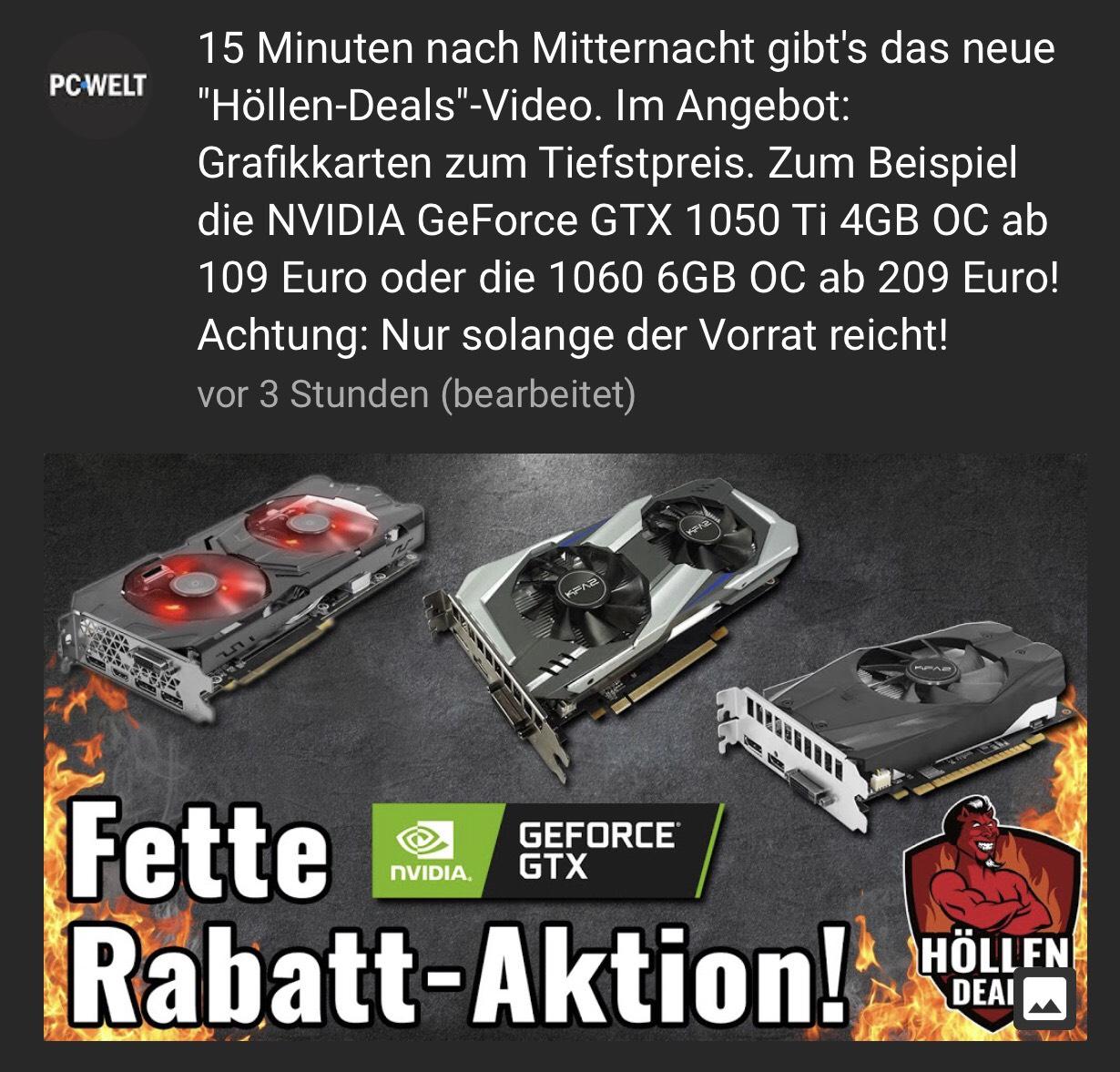 KFA2 GeForce GTX im PC WELT Angebot ab 114,99€ über Masterpass