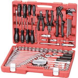 Rothewald Industrie-Werkzeugsatz  122-teilig (hochwertigem Chrom-Vanadium-Stahl)