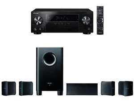 [Berlet] Pioneer 5.1 Heimkinosystem mit AV Receiver und Lautsprecher Set, HTP-206, 130 Watt/Kanal, Multiroom, Bluetooth, Dolby TrueHD