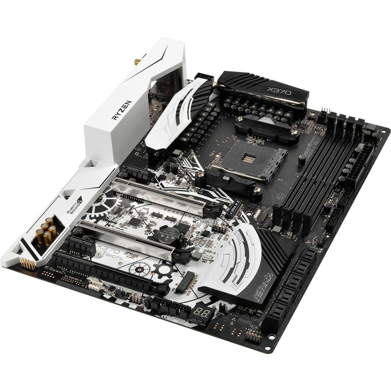 ASRockASRock X370 Taichi AMD X370 So.AM4 Dual Channel DDR4 ATX RetailArtnr: 69479, EAN: 4717677333121, Hersteller Artnr.: X370 TAICHI