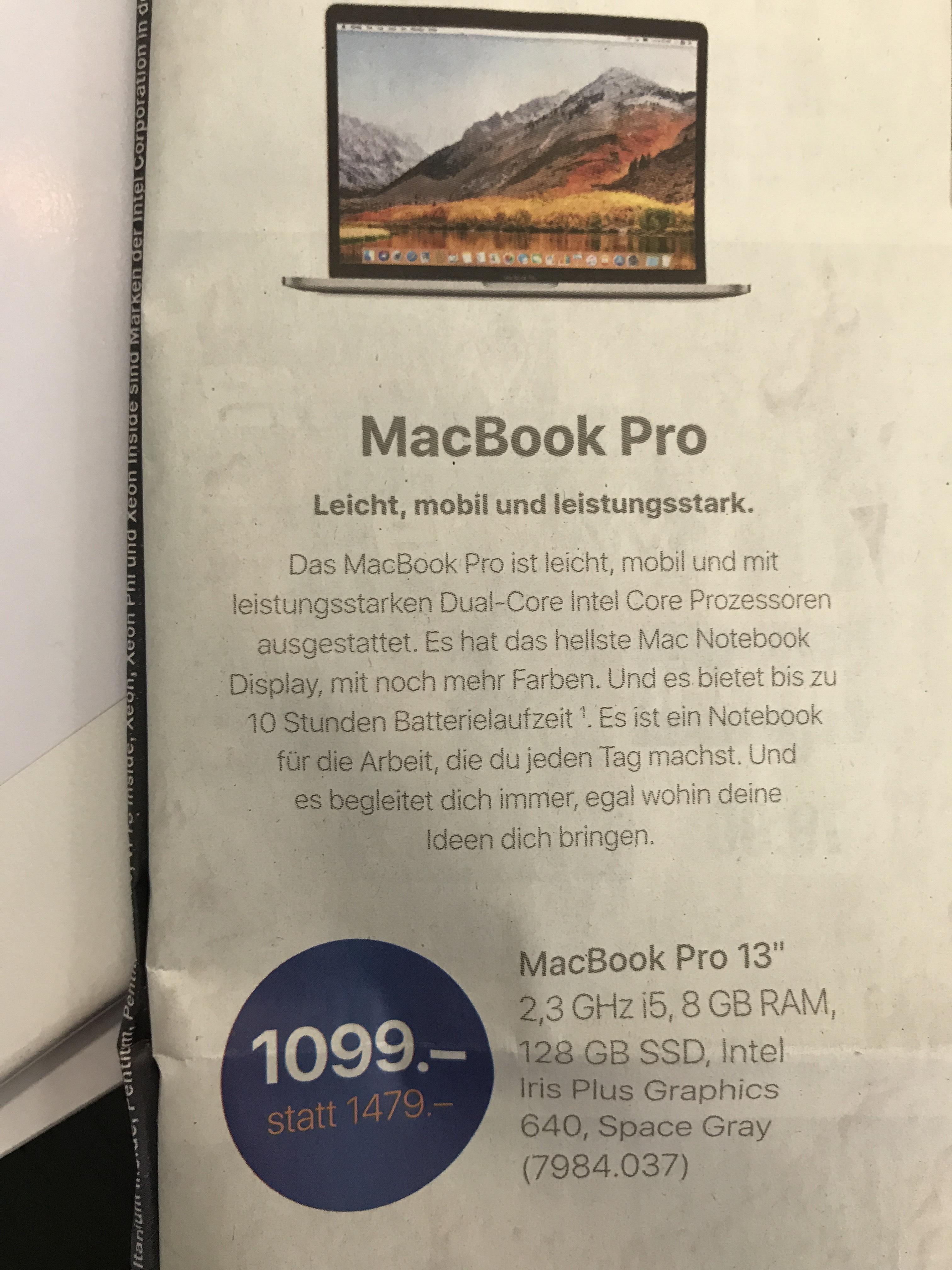 "*Schweiz* MacBook Pro Retina 13"" 128 GB SSD"