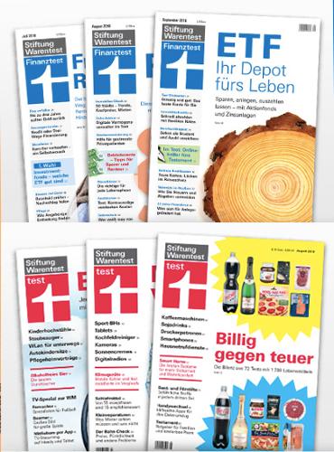 """[Stiftung Warentest]  3x """"test"""" (Print) und 3 x """"finanztest"""" (Print) gratis"""