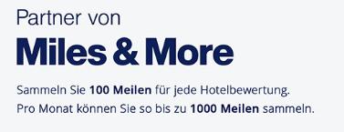 (holidaycheck.de) 1000 Miles & More Meilen für 10 Bewertungen