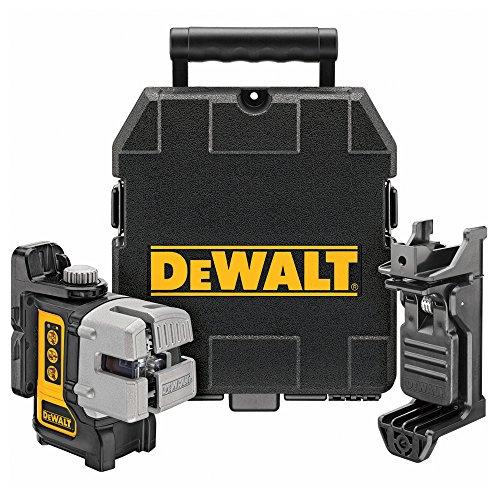 DeWalt DW089K Kreuzlinien-Laser inkl. Wandhalterung, Batterien und Transportkoffer [amazon.fr]