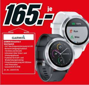Garmin Vivoactive 3 Smartwatch für 165€ Media Markt [Berlin/Brandenburg]