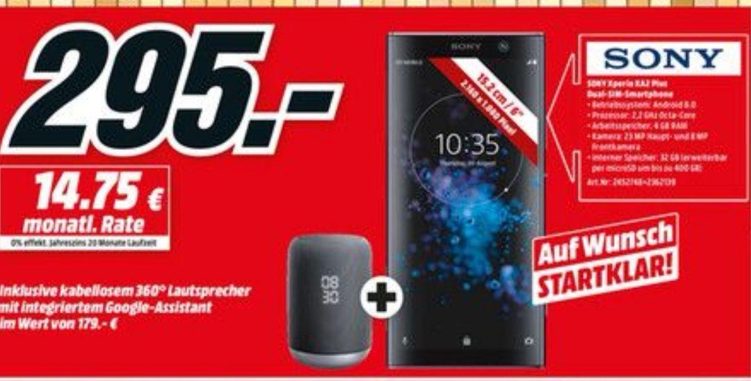 Sony Xperia XA2 Plus 6 Zoll Dual Sim Smartphone + Sony LF-S50G Lautsprecher für 295€ Media Markt Berlin/Brandenburg