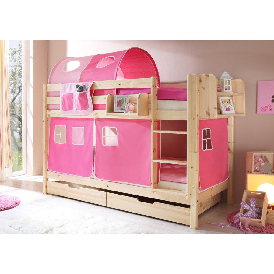 Rabattaktion auf Kindermöbel bei [babymarkt] z.B. Ticaa Etagenbett Marcel mit rosa Verkleidung