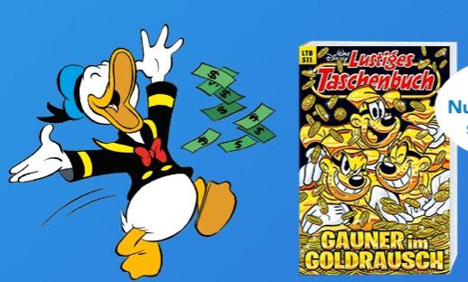 Walt Disney Lustiges Taschenbuch Jahresabonnement 13 Ausgaben mit 15,- Amazon Gutschein