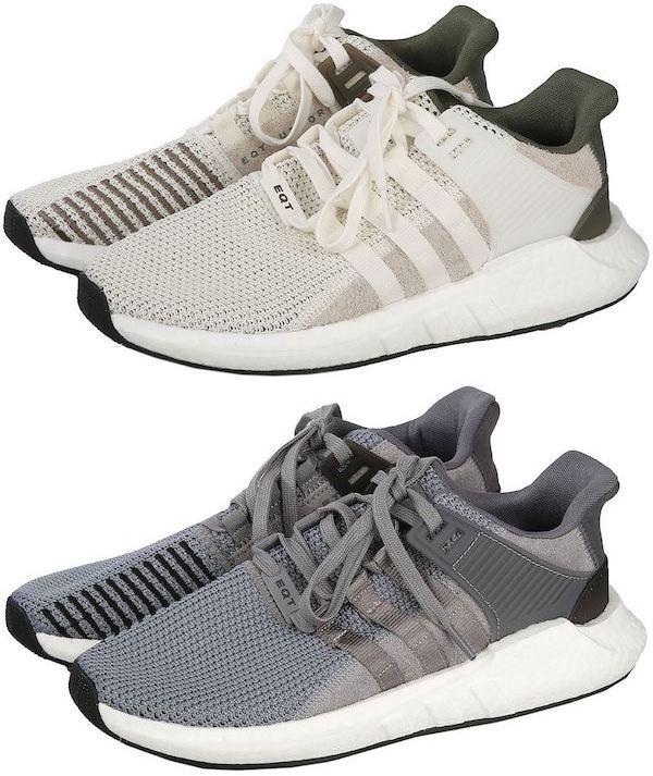 Adidas EQT Support 93/17 in creme / khaki oder grau / schwarz (Größen 36 bis 49 1/3)