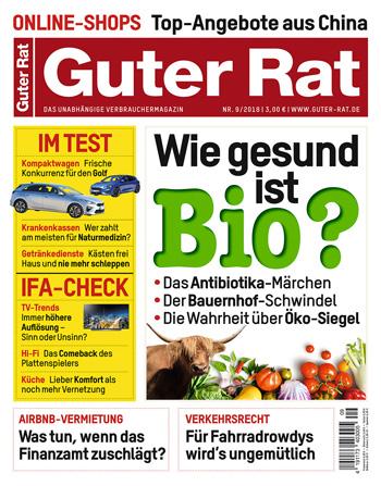 6 Hefte GUTER RAT + 15 Euro Verrechnungsscheck für 16,80 Euro ( = 0,30€ pro Heft)
