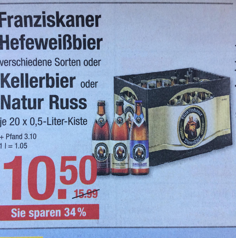 Franziskaner Weißbier 10,50€ @ V-Markt