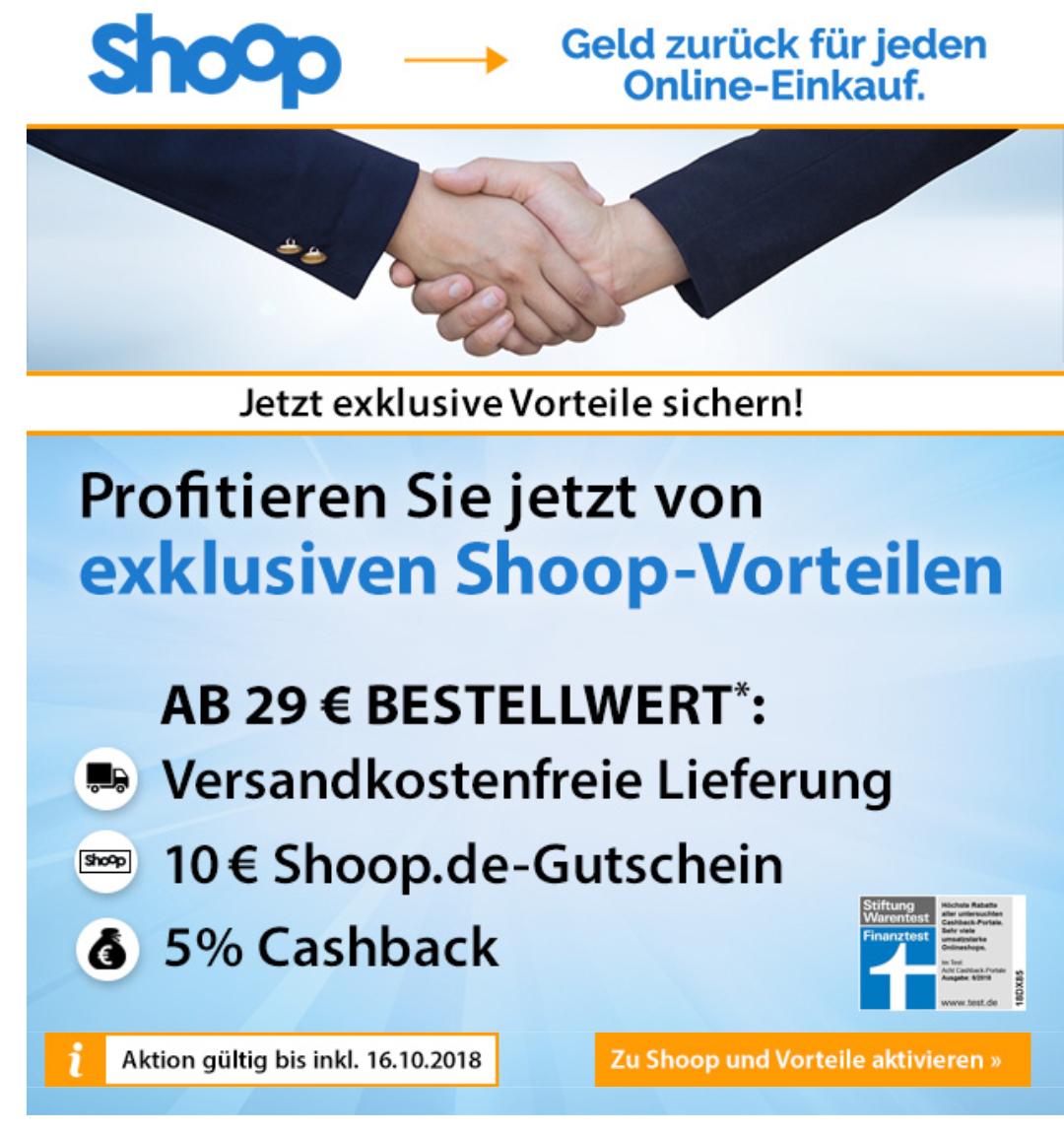 968439dee202d6 10 Euro Shoop Gutschein bei Voelkner und 5% Cashback + kostenloser Versand  ab 29 Euro