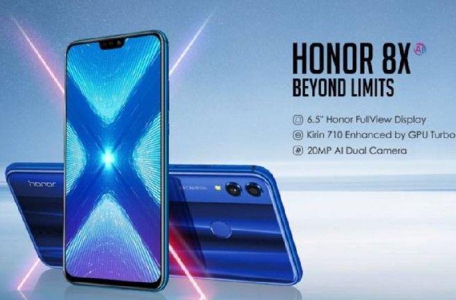 Honor 8X 64GB schwarz/blau mit 3GB LTE (21,6 Mbit/s) O2 + Allnet (Tel./SMS) für 4,95 + 14,99 im Monat
