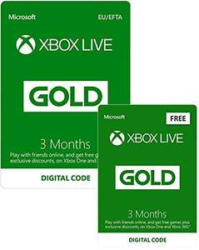 Xbox Live 3 Monate Gold + 3 Monate Gratis