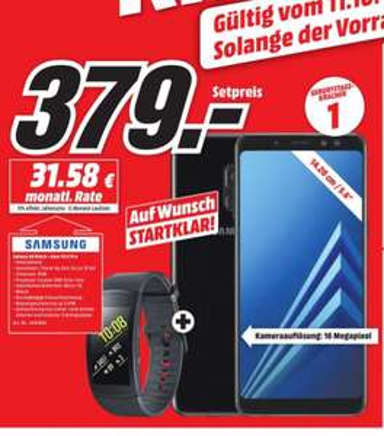 Lokal (Karlsruhe) Samsung Galaxy A8 + Samsung Gear Fit 2 Pro