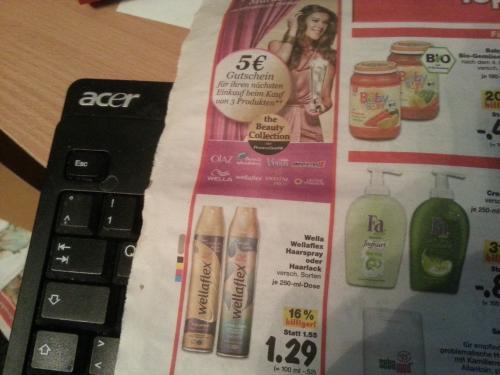 3 Produkte von P&G im Wert von mindestens 5 Euro kaufen, und 5€ Einkaufsgutschein für weitere P&G Produkte erhalten
