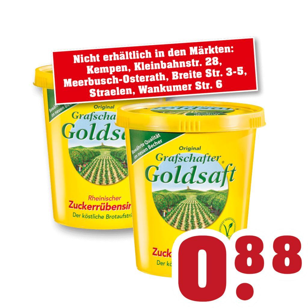 Grafschafter Goldsaft Zuckerrübensirup / Rübenkraut für 88 Cent offline bei Trinkgut